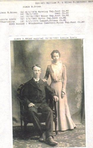 Almon B. Brown and Charlottie Irwin