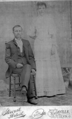 Jefferson  Davis Kinser w/ wife Rebecca Kittrell