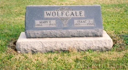 Isaac James  Wolfcale & Mary Ellen Shady gravestone