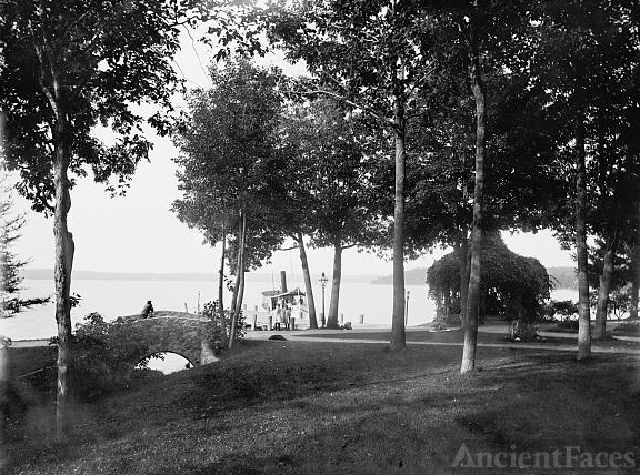 View from Kay's [i.e. Kayes] Park, Lake Geneva, Wis.