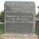 Tombstone of James M. and Sarah A. (Marks) Michael In Bonner Springs, Kansas