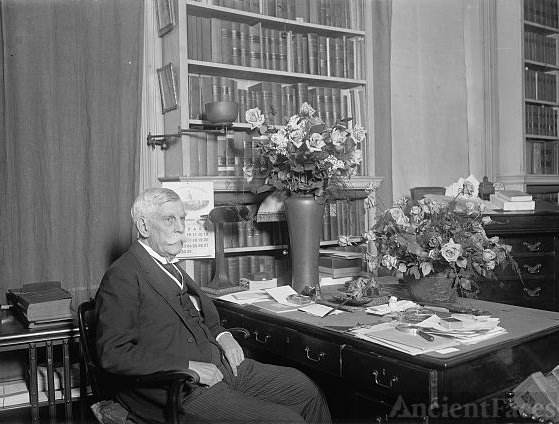 Justice Oliver Wendell Holmes on 85th birthday, 3/8/26
