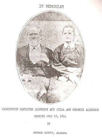 Washington  Aldredge & Julia Ann Hendrix