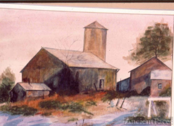 Rankin Barn - Watercolor by Fred Halkett