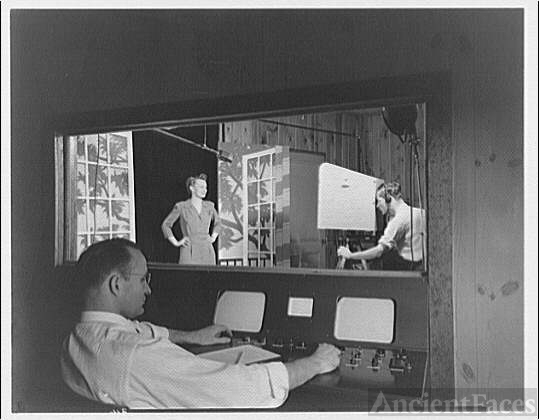 Capitol Radio Engineering Institute. Television studio at...