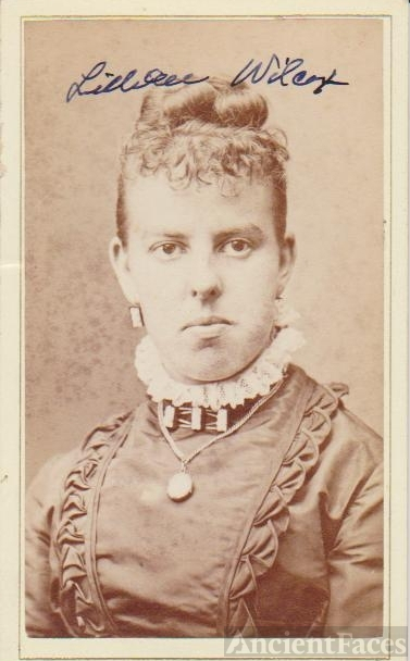 Lillian Wilcox, Michigan 1878