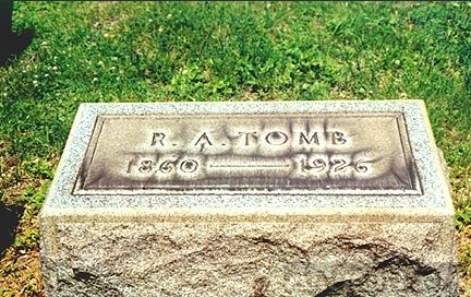 Headstone of R. A. Tomb