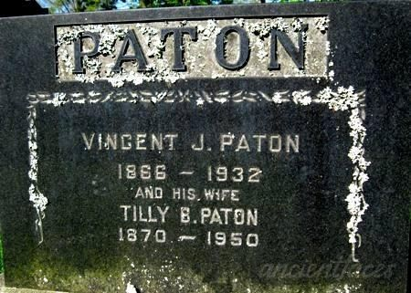 Vincent & Tilly Paton Tombstone