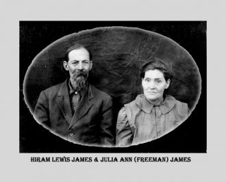Hiram Lewis James & Julia Ann Freeman