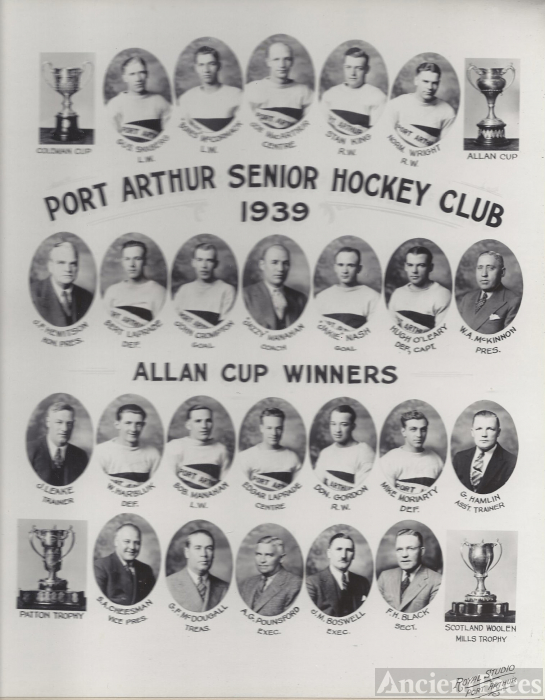 Port  Arthur  Canada Hockey Club 1939