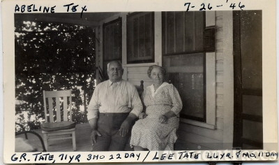 Bob and Lee Wilhelm Tate