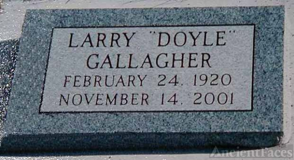 Headstone of Larry Doyle Gallagher
