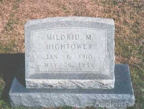 Gravesite Hightower, Mildrid
