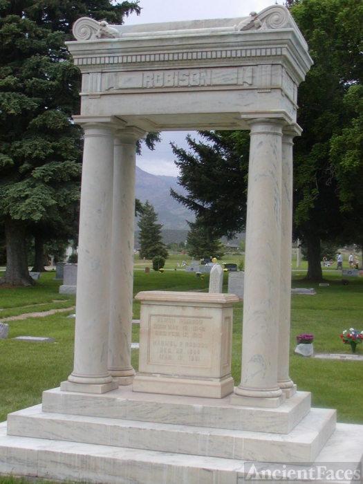 Robison Grave Monument in Fillmore City Cemetery