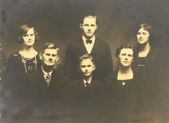 Clark Eucurtis Wolfcale family 1925