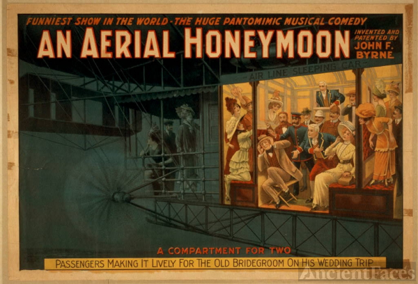 An Aerial honeymoon invented and patented by John F....
