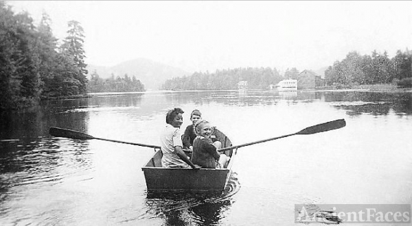 Boating on Lake Placid