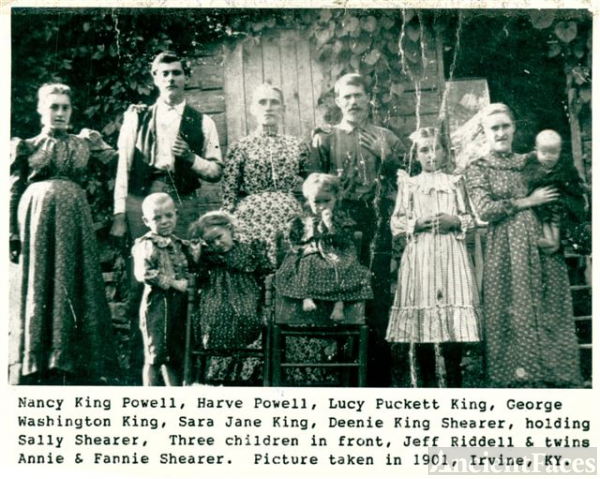 George Washington & Lucy Puckett King Family, Irvine, Estill Co. KY
