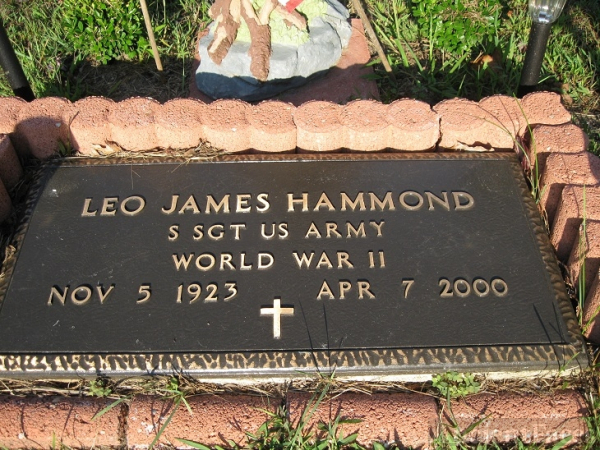 Leo James Hammond gravesite