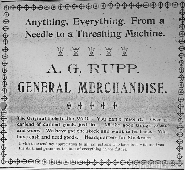 Rupp's store ads