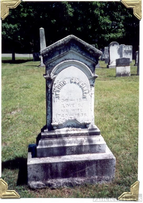 Gravestone of Jethro & Love Gardner