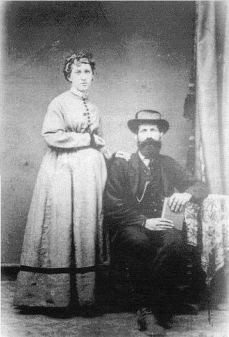 Andrew and Clementine Boone, 1870's