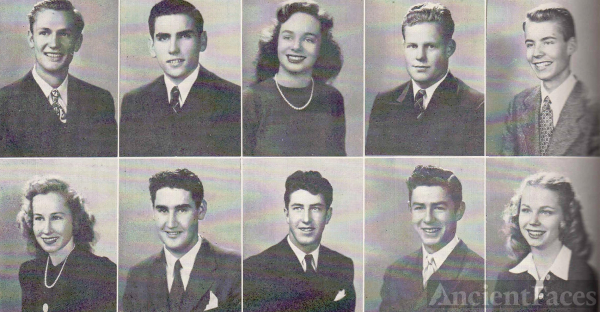 Jim Tanner and Graduating Class 1945
