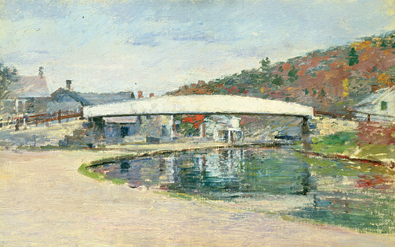 Fig. 2: Theodore Robinson (1852-1896) White Bridge Near Napanoch, 1893 Oil on canvas, 14-1/4 x 22 inches Courtesy Spanierman Gallery, New York