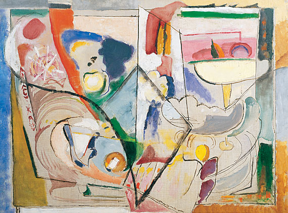 Fig. 7: Arthur B. Carles (1882-1952), Composition, 1935-37. Oil on canvas, 43-3/4 x 59-1/4 inches. Courtesy Avery Galleries, Haverford, PA.
