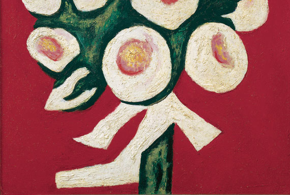 Fig. 5: Marsden Hartley (1877-1943), Roses for Seagulls That Lost Their Way, 1935-36. Oil on canvas, 16 x 12 inches. Courtesy Bernard Goldberg Fine Arts, LLC., New York.