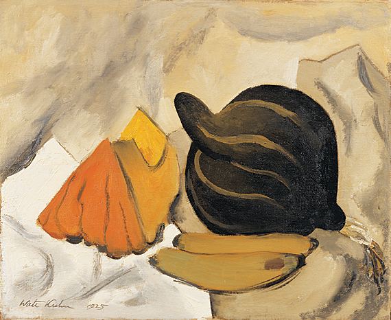 "Fig. 1: Walt Kuhn (1877-1949) Still Life of Vegetables, 1925. Oil on canvas, 16 x 20 inches. Signed and dated lower left: ""Walt Kuhn 1925."" Courtesy Brock & Co., Carlisle, MA."