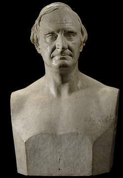Fig. 1: Judge Alphonso Taft (1810-1891). Modeled August 1869. Original plaster. H. 24-3/8, W. 16-1/8, D. 11-1/8 in. Smithsonian American Art Museum, Washington, D.C. Museum purchase in memory of Ralph Cross Johnson, 1968.155.76.