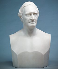 Fig. 2: Alphonso Taft (1810–1891). Modeled August 1869, carved 1869-1870. Marble. H. 24, W. 17, D. 10-3/4 in. Taft Museum of Art, Cincinnati, OH, 1931.370. Photography by Tony Walsh.