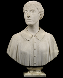 Fig. 4: Elizabeth Gibson Powers (1813-1892). Plaster. Modeled about 1859, cast and finished after 1859. H. 26-1/4, W. 18-7/8, D 9-7/8 in. Smithsonian American Art Museum, Washington, D.C. Museum purchase in memory of Ralph Cross Johnson, 1968.155.30.