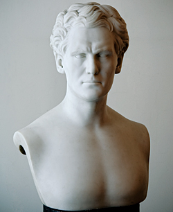 Fig. 6: Robert Todd Lytle (1804-1839). Modeled 1835 and 1849, carved 1850. Marble. H. 22, W. 16-1/2, D. 8-3/4 in. Private Collection. Photography by Tony Walsh.