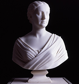 Fig. 7: Alice Key Pendleton (1823-1886), 1870. Marble. H. 26, W. 17-1/4, D. 12-5/8 in. Corcoran Gallery of Art, Washington, D.C. Gift of James Francis Brice, 36.6.