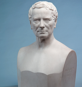 Fig. 8: David Sinton (1808-1900). Modeled 1870, carved 1872-1873. Marble. H. 23-5/8, W. 16-1/2, D. 9-7/8 in. Taft Museum of Art, 1931.371. Photography by Tony Walsh.
