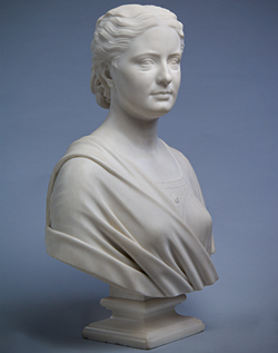 Fig. 9: Anna B. Sinton (1850-1931). Modeled 1870, carved 1872. Marble. H. 26-5/8, W. 18-1/8, D. 11 in. (with socle). Taft Museum of Art, Cincinnati, OH, 1931.372. Photography by Tony Walsh.]