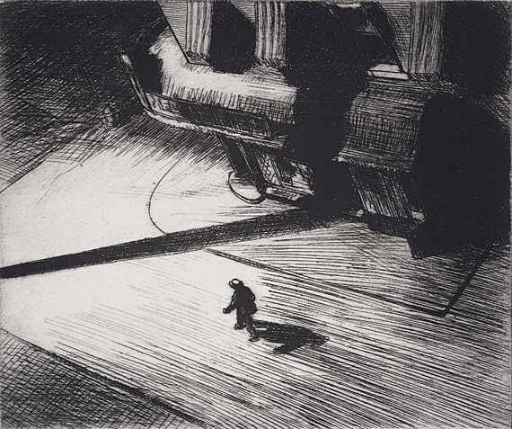 Night Shadows, 1921. Etching. 6-15/16 x 8-5/16 inches. Museum of Fine Arts, Boston. Gift of William Emerson, 38.741.