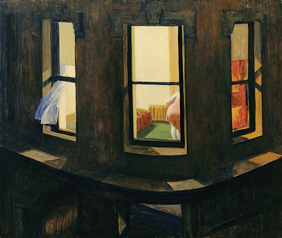 Night Windows, 1928. Oil on canvas, 29 x 34 inches. The Museum of Modern Art, New York. Gift of John Hay Whitney, 1940.