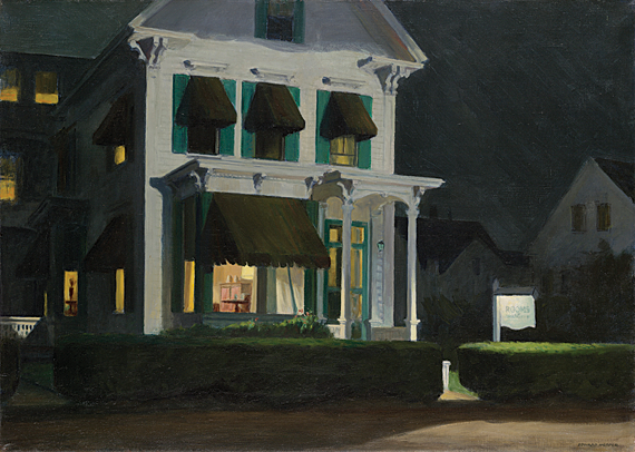 Rooms for Tourists, 1945. Oil on canvas, 30-1/4 x 42-1/8 inches. Yale University Art Gallery. Bequest of Stephen Carlton Clark, BA., 1903.