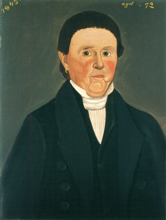 William W. Kennedy (1818–after 1870) Captain David Worth (1773–1855), 1845 Oil on board, 16 x 12 inches (1988.123.1)