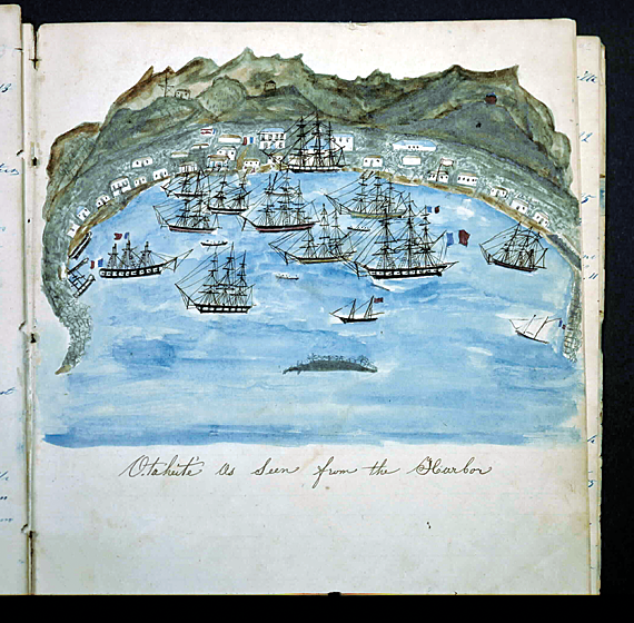 Journal of the whaleship Nauticon, September 13, 1848–March 24, 1853 Kept by Susan Austin Veeder (1816–97) (MS 220, Log 347)