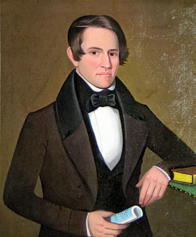 Portrait of George Sunderland by Ammi Phillips, 1840.