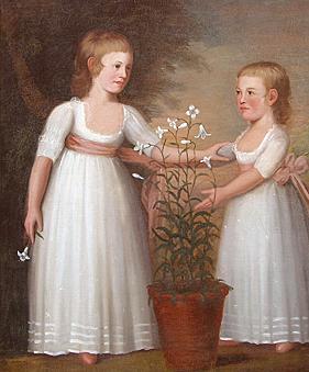 Double portrait of the Davis children by Edward Savage, circa 1795.