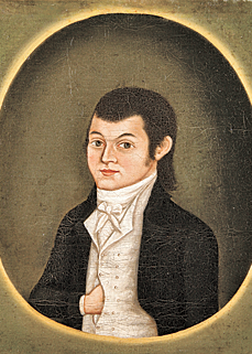 Portrait of Israel Forster by Rufus Hathaway, 1797.