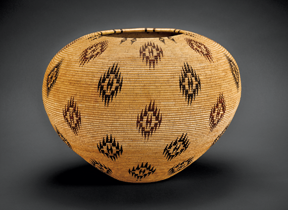 Degikup basket, Louisa Keyser, also known as Dat So La Lee (born ca. 1850–1925) Carson City, Nev., 1912–1913 Willow, western redbud, and bracken fern root, coiled three-rod H. 12-3/4 in., D. 17-1/2 in.