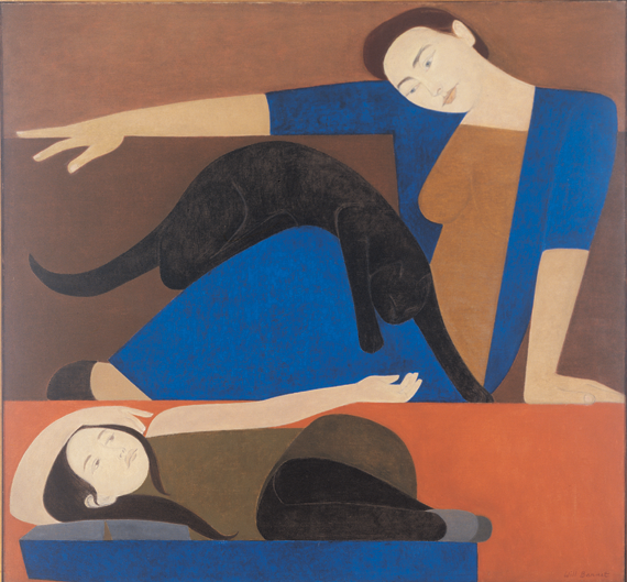 Fig. 5: Will Barnet (b. 1911) The Blue Robe, 1962 Oil on canvas, 50 x 54 inches Private collection © Will Barnet, Courtesy, Alexandre Gallery, New York