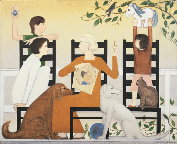 Fig. 7: Will Barnet (b. 1911) Three Chairs, 1991–1992 43 x 53-1/2 inches Private collection, NY © Will Barnet, Courtesy, Alexandre Gallery, New York