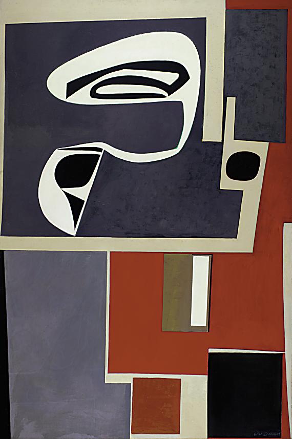Fig. 4: Will Barnet (b. 1911) Whiplash, 1959 Oil on canvas, 62-1/2 x 41-1/2 inches Courtesy, Pennsylvania Academy of the Fine Arts; John Lambert fund Art © Will Barnet/Licensed by VAGA, New York, NY Courtesy, Alexandre Gallery, New York